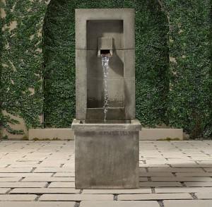 Modern interpretation of the pre cast water feature